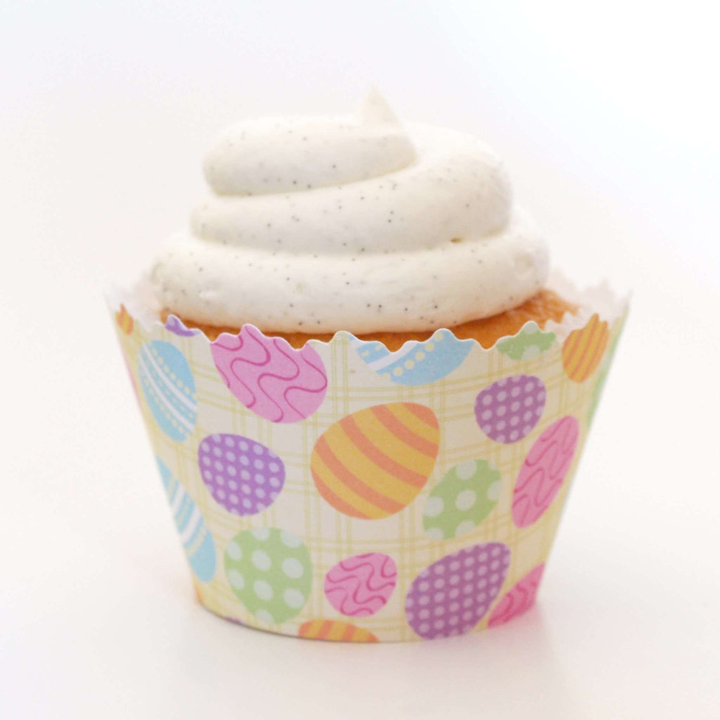 Simply Wrappers - Easter Egg Hunt Cupcake Wrapper: Blue, Orange, Purple, Pink & Green April Eggs