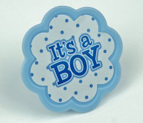 It's a Boy Polka Dot Toppers - Set of 12