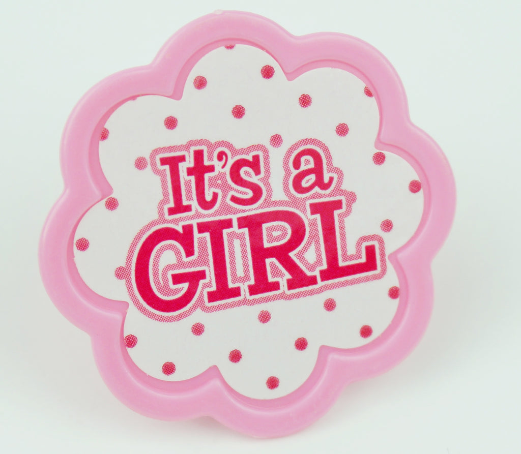 It's a Girl Polka Dot Toppers - Set of 12