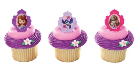 Sofia The First Sofia's Friends Cupcake Rings/Toppers - Set of 12