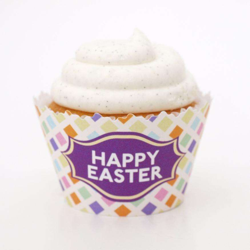 Simply Wrappers - Happy Easter Pastel Banner Cupcake Wrapper