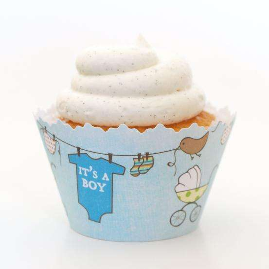 Simply Wrappers - It's a Boy Baby Shower cupcake wrapper