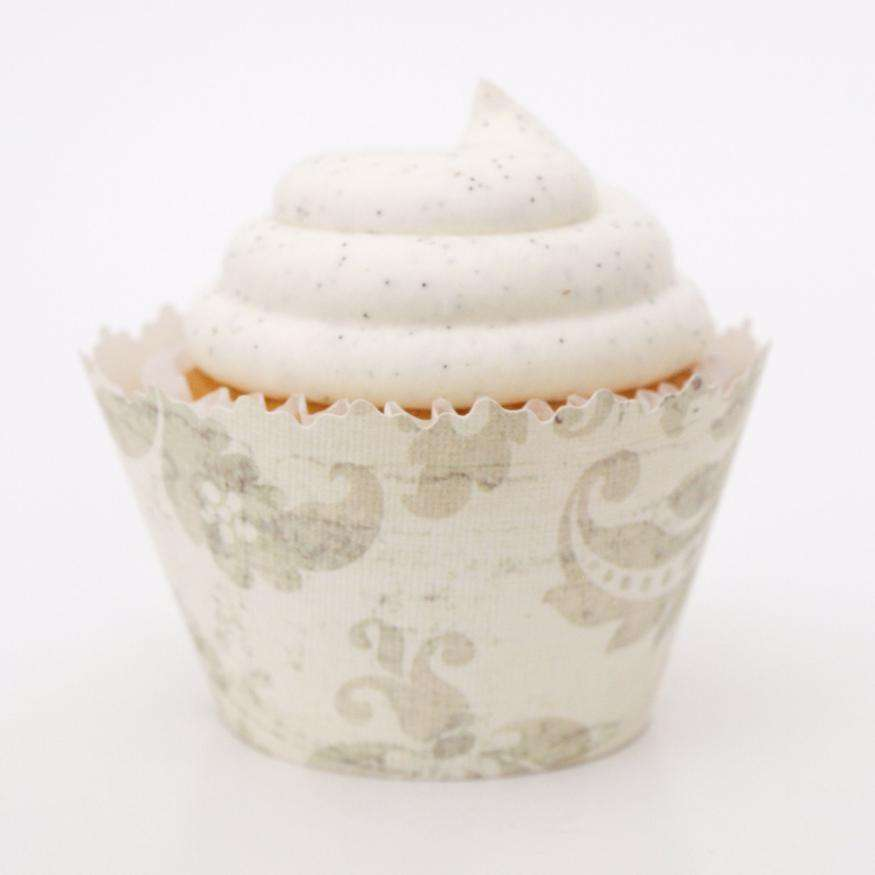 Simply Wrappers - Mayan Dirty Gray Vine Cupcake Wrapper