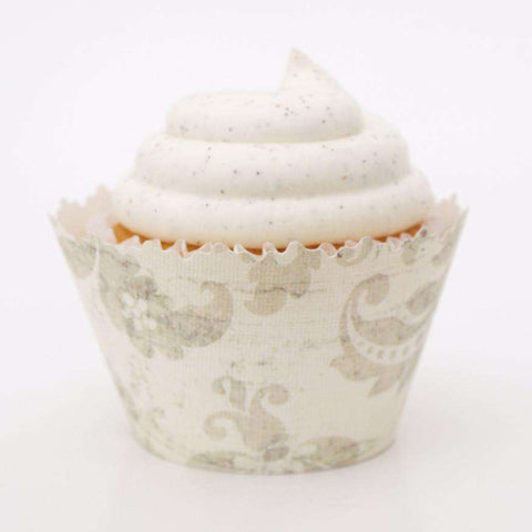 Mayan Dirty Gray Vine Cupcake Wrapper - Set of 12