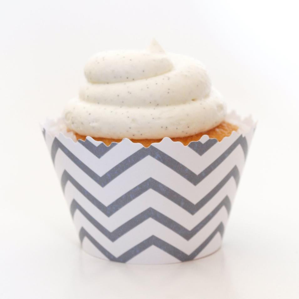 Simply Wrappers - Silver Chevron Cupcake Wrappers