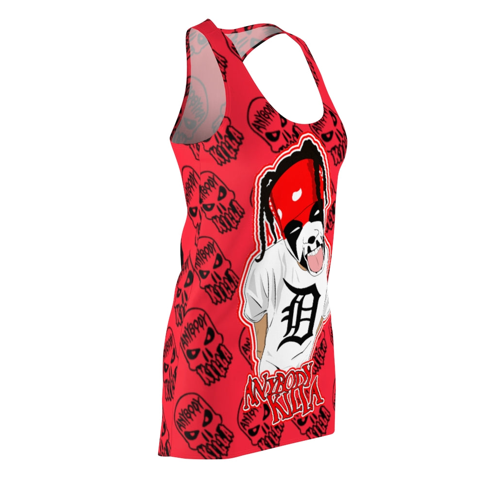 ABK Cartoon Women's Cut & Sew Racerback Dress
