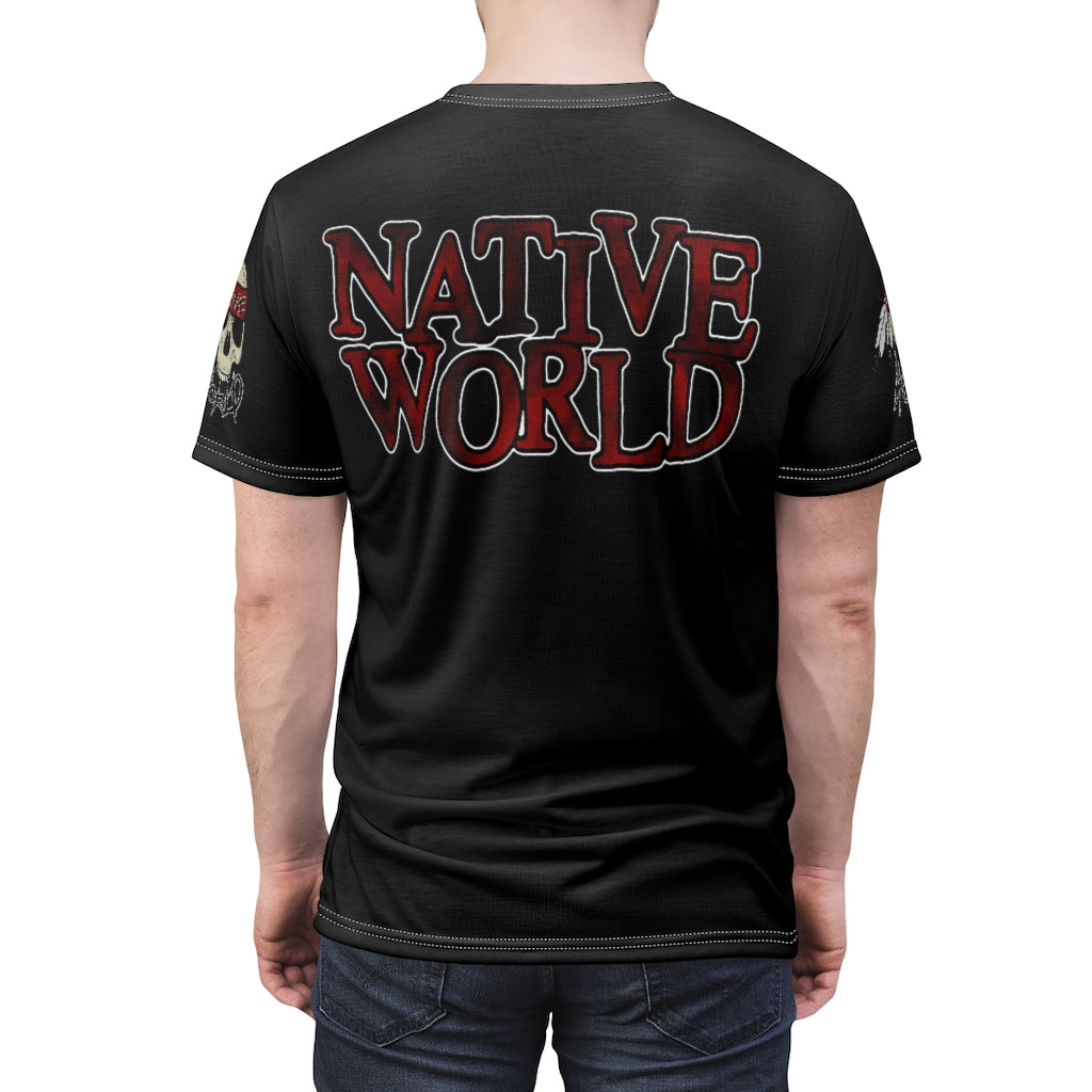 Native World skull Unisex AOP Cut & Sew Tee