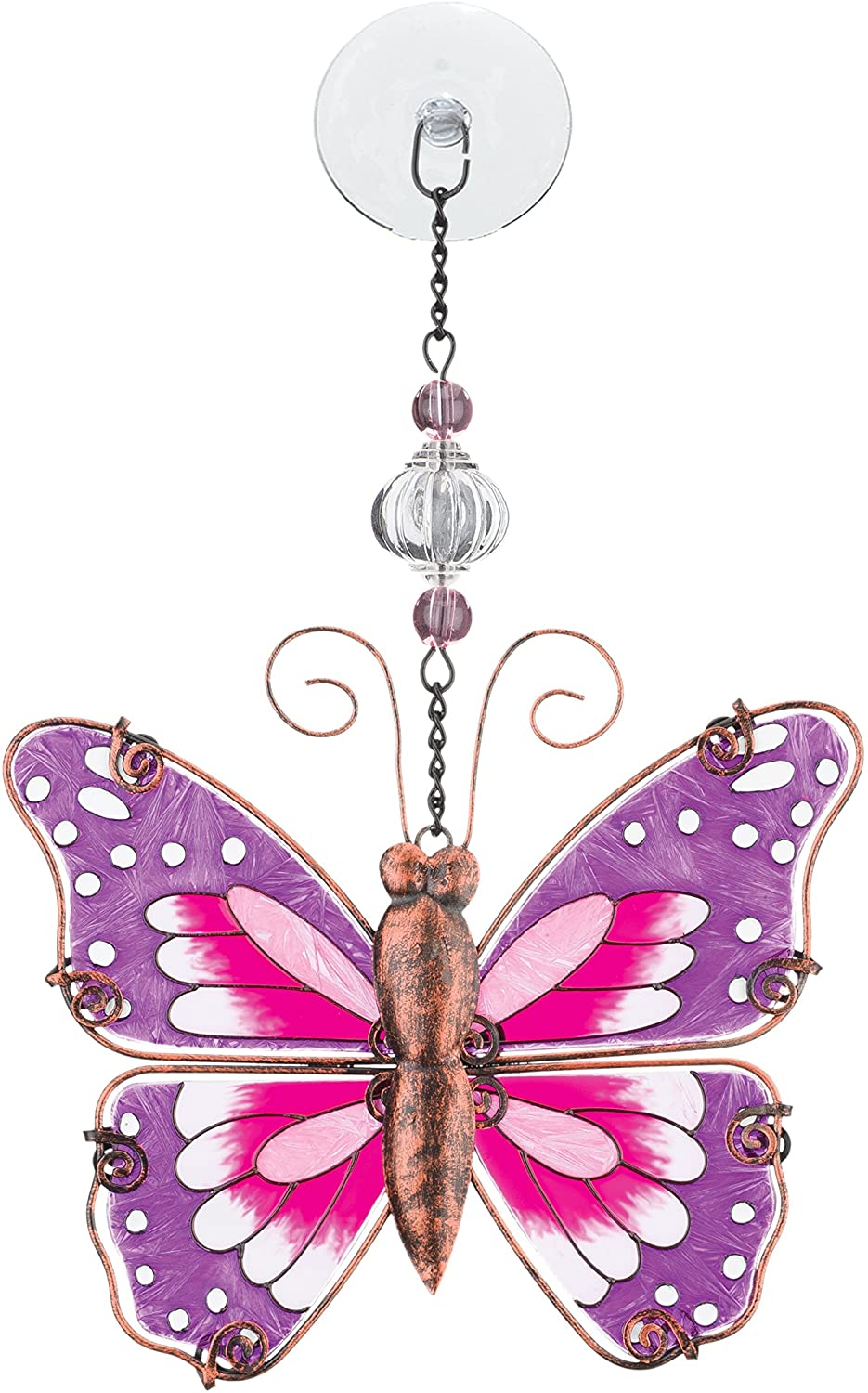 discPINK BUTTERFLY SUNCATCHER