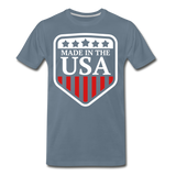 Made In The USA Men's Premium T-Shirt - steel blue