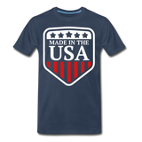 Made In The USA Men's Premium T-Shirt - navy