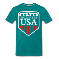 Made In The USA Men's Premium T-Shirt - teal
