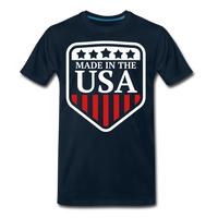 Made In The USA Men's Premium T-Shirt - deep navy