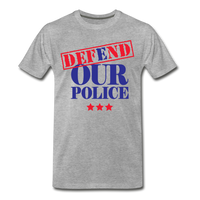 Defend Our Police Men's Premium T-Shirt - heather gray