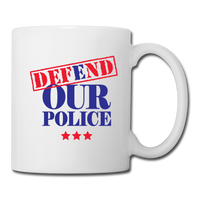 Defend Our Police Coffee/Tea Mug - white