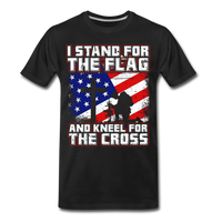 I Stand For The Flag And Kneel For The Cross Men's Premium Organic T-Shirt - black