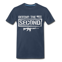 Defend The Second Men's Premium T-Shirt - navy