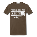 Defend The Second Men's Premium T-Shirt - noble brown
