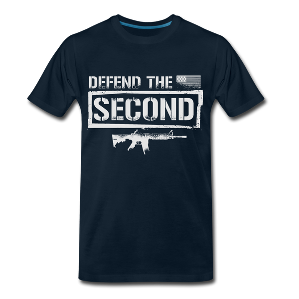 Defend The Second Men's Premium T-Shirt - deep navy