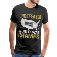 Undefeated World War Champs Men's Premium T-Shirt - black
