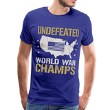 Undefeated World War Champs Men's Premium T-Shirt - royal blue