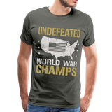 Undefeated World War Champs Men's Premium T-Shirt - asphalt gray