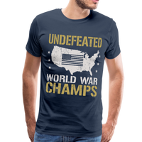 Undefeated World War Champs Men's Premium T-Shirt - navy