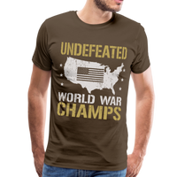 Undefeated World War Champs Men's Premium T-Shirt - noble brown