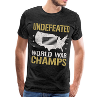 Undefeated World War Champs Men's Premium T-Shirt - charcoal gray