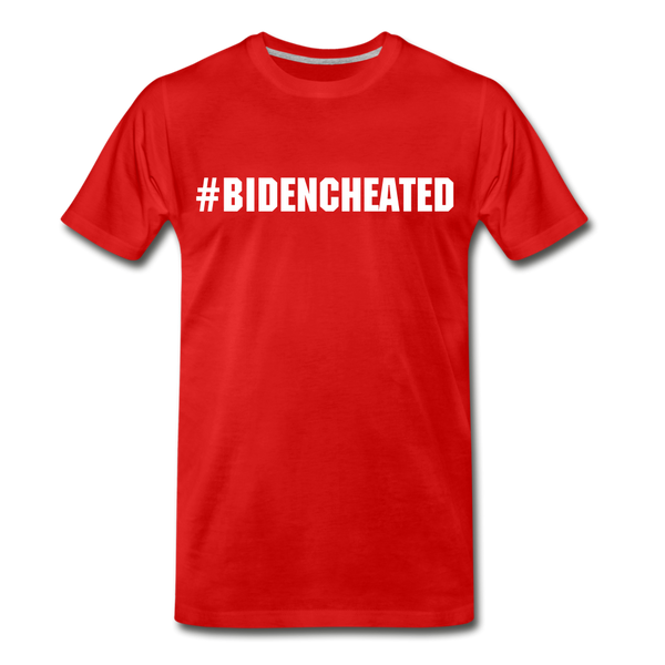 #BidenCheated Men's Premium T-Shirt - red