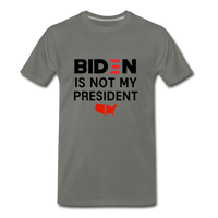 Biden is NOT my President Men's Premium T-Shirt - asphalt gray
