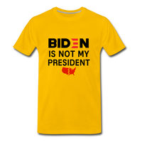 Biden is NOT my President Men's Premium T-Shirt - sun yellow