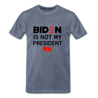 Biden is NOT my President Men's Premium T-Shirt - heather blue