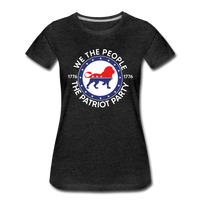 We The People 1776 The Patriot Party Women's Premium T-Shirt - charcoal gray