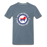 We The People 1776 The Patriot Party Men's Premium T-Shirt - steel blue