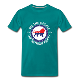 We The People 1776 The Patriot Party Men's Premium T-Shirt - teal