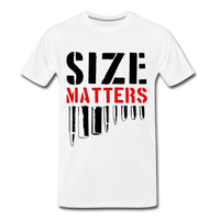 Size Matters Men's Premium T-Shirt - white