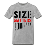 Size Matters Men's Premium T-Shirt - heather gray