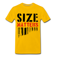 Size Matters Men's Premium T-Shirt - sun yellow