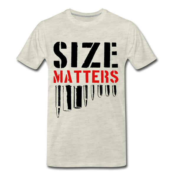 Size Matters Men's Premium T-Shirt - heather oatmeal