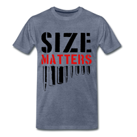 Size Matters Men's Premium T-Shirt - heather blue