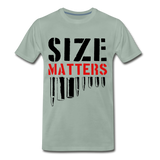Size Matters Men's Premium T-Shirt - steel green