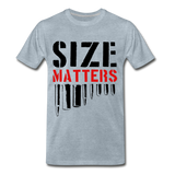Size Matters Men's Premium T-Shirt - heather ice blue