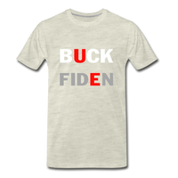 Buck Fiden Men's Premium T-Shirt - heather oatmeal