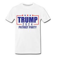 Trump 2024 Patriot Party Men's Premium T-Shirt - white
