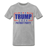 Trump 2024 Patriot Party Men's Premium T-Shirt - heather gray