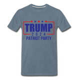 Trump 2024 Patriot Party Men's Premium T-Shirt - steel blue