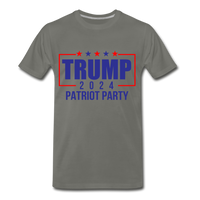 Trump 2024 Patriot Party Men's Premium T-Shirt - asphalt gray