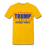 Trump 2024 Patriot Party Men's Premium T-Shirt - sun yellow