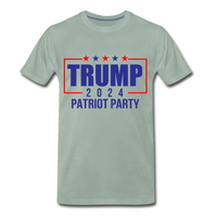 Trump 2024 Patriot Party Men's Premium T-Shirt - steel green