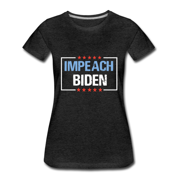 Impeach Biden Women's Premium T-Shirt - charcoal gray